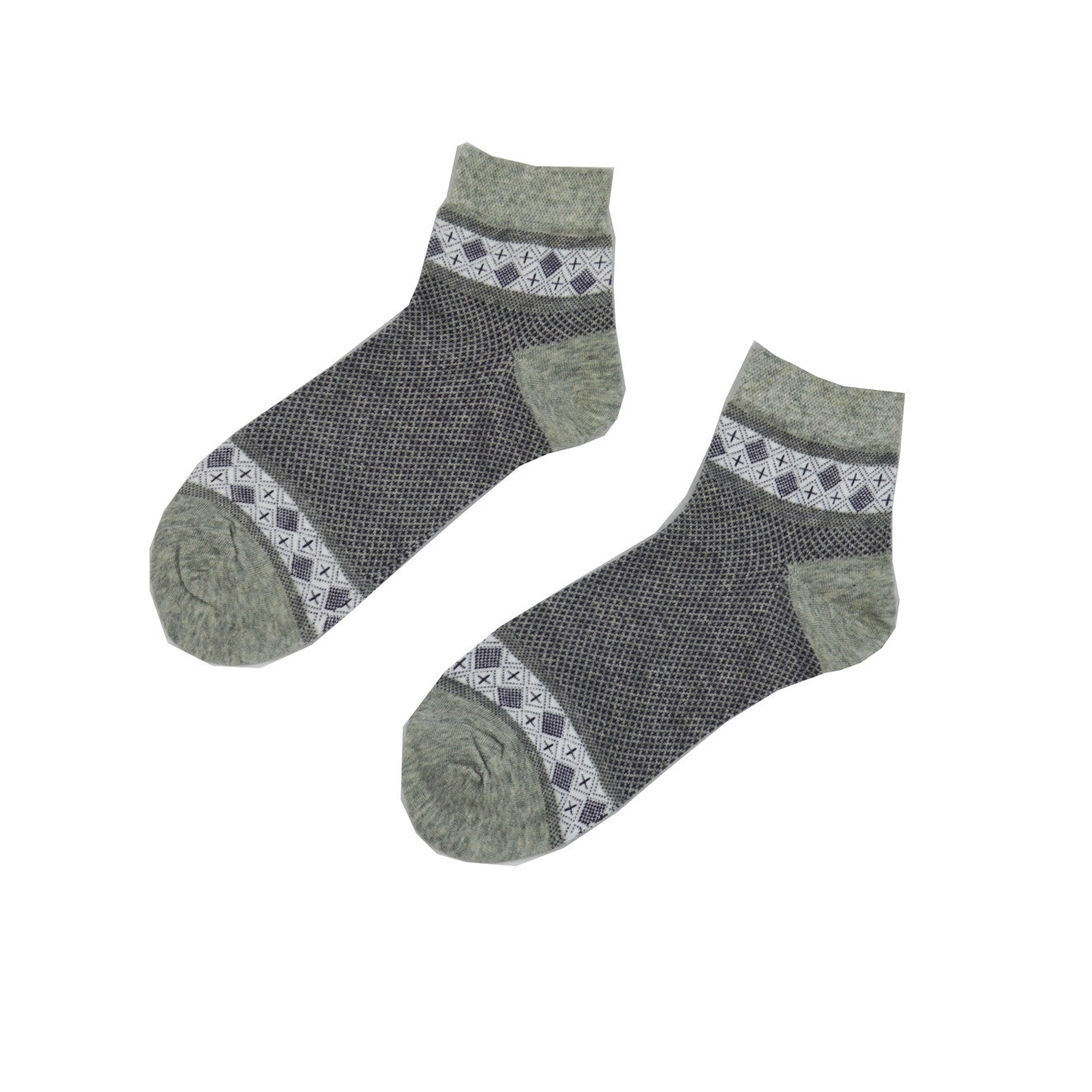 Gray White Classic - Aussie Happy Socks - Happy Pants
