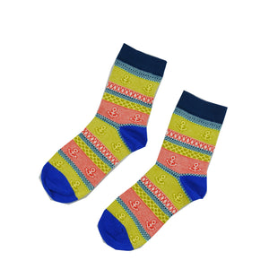 Yellow and Blue anchor - Aussie Happy Socks - Happy Pants