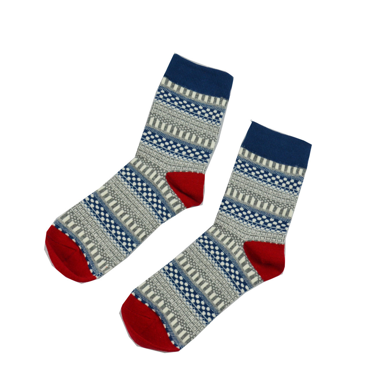 Blue and Gray Geometric - Aussie Happy Socks - Happy Pants