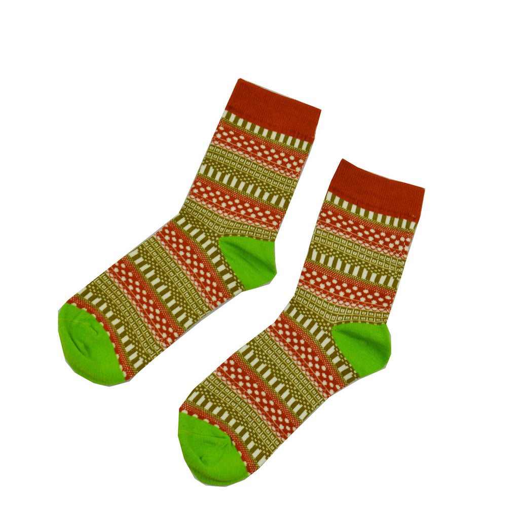 Red and Green Geometric - Aussie Happy Socks - Happy Pants