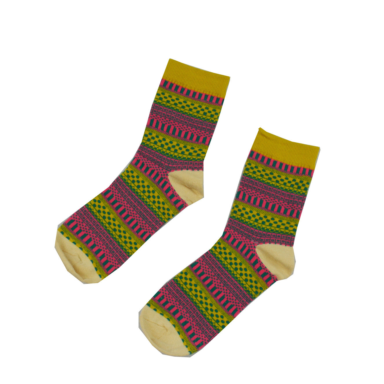 Pink and Yellow Geometric - Aussie Happy Socks - Happy Pants
