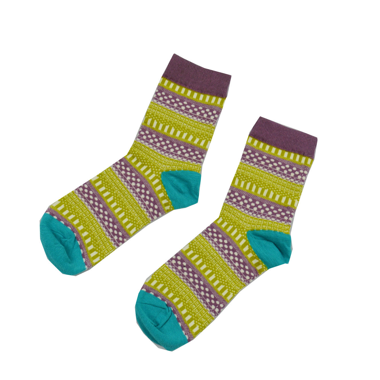 Purple and Green Geometric - Aussie Happy Socks - Happy Pants