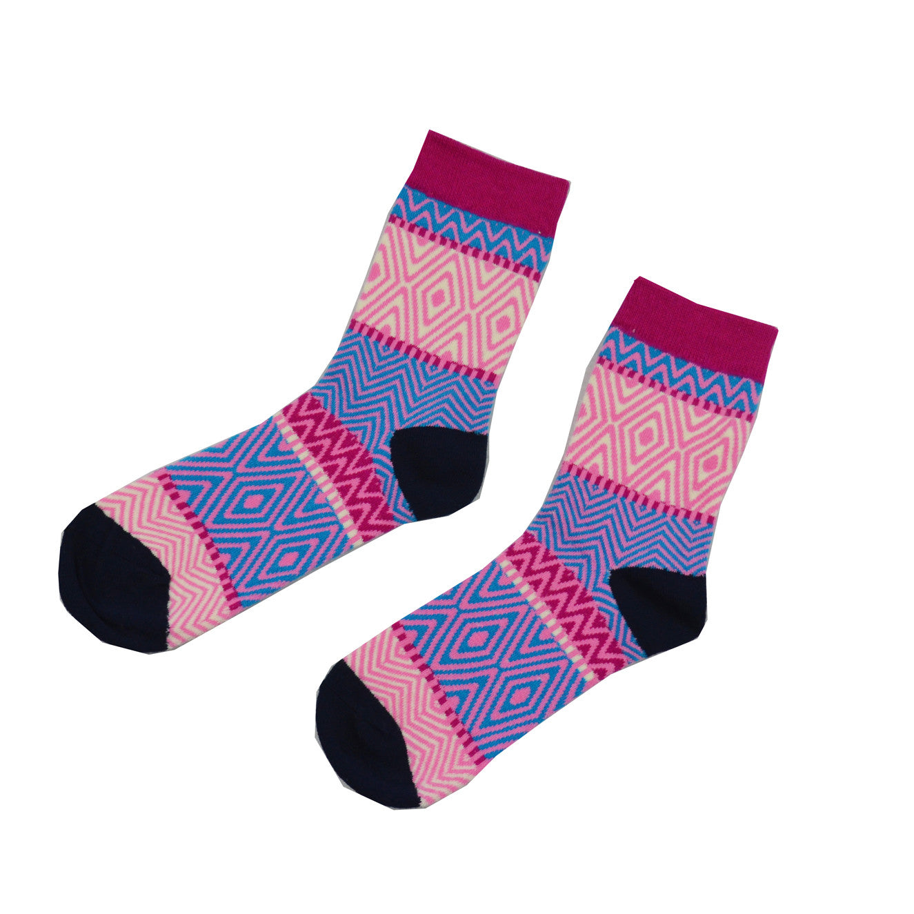 Pink and Purple zebra - Aussie Happy Socks - Happy Pants