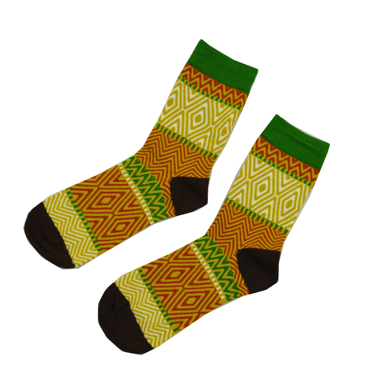 Yellow Green and Red zebra - Aussie Happy Socks - Happy Pants