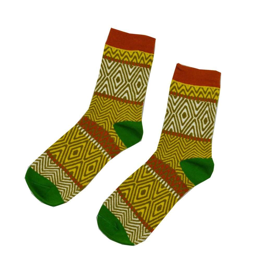 Brown, Red and Green zebra - Aussie Happy Socks - Happy Pants