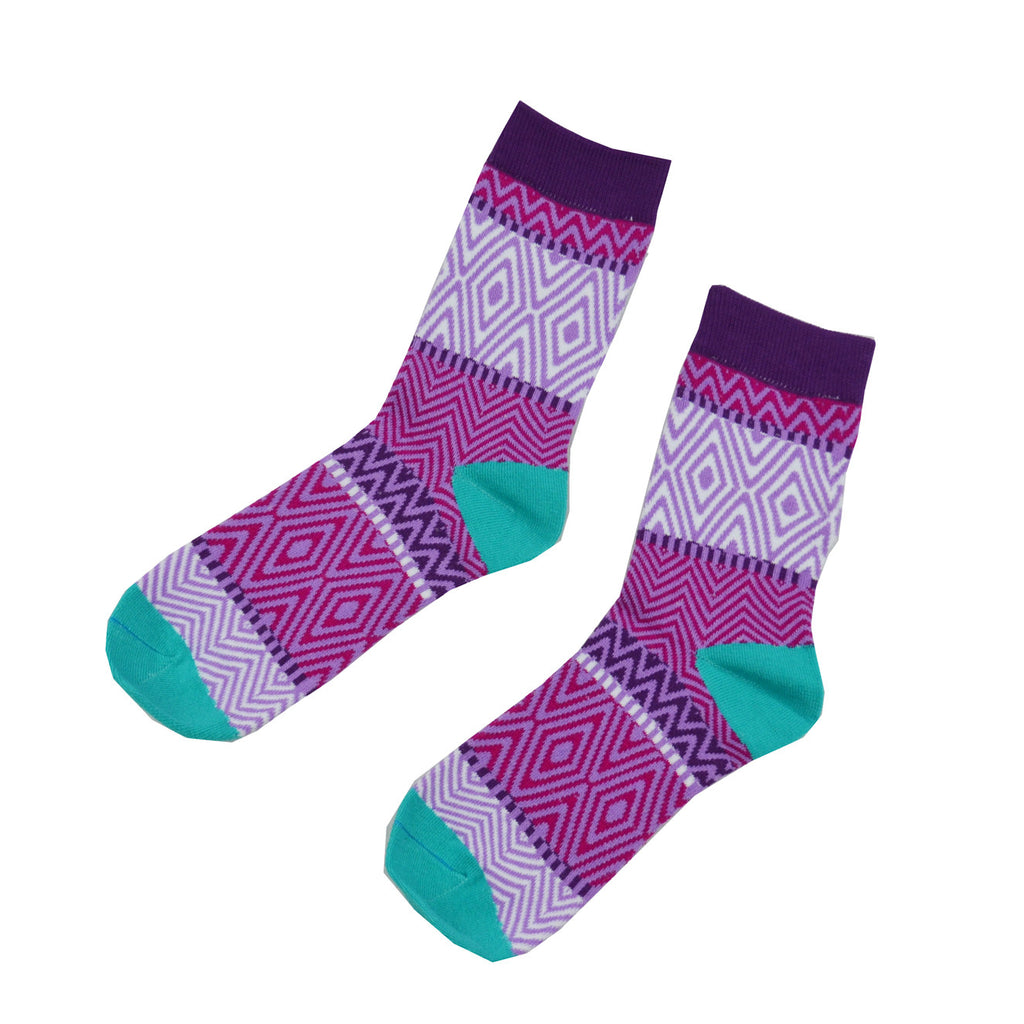 Pink and Blue zebra - Aussie Happy Socks - Happy Pants