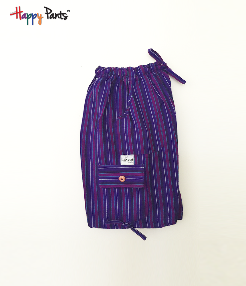Electric Pruple Cotton Bottoms - Happy Pants
