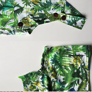 Green Palms Short Overall