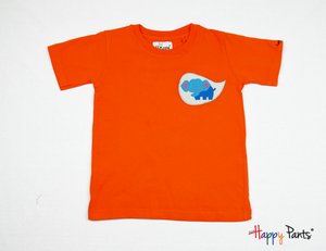 Orange Happy Kids Tees - Happy Pants