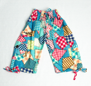 Patchy Plaid Happy Kids Boardshorts 3/4 Shorts