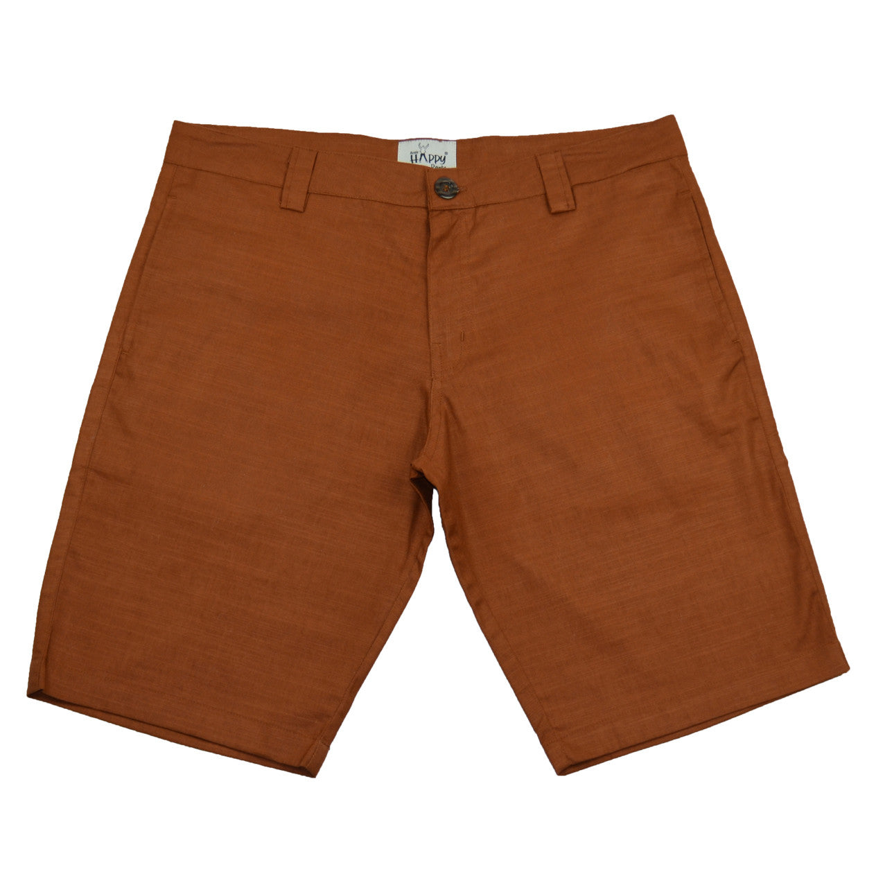 Brown Cotton BoardShorts - Happy Pants - 1
