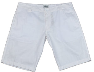 White Cotton Shorts - Happy Pants