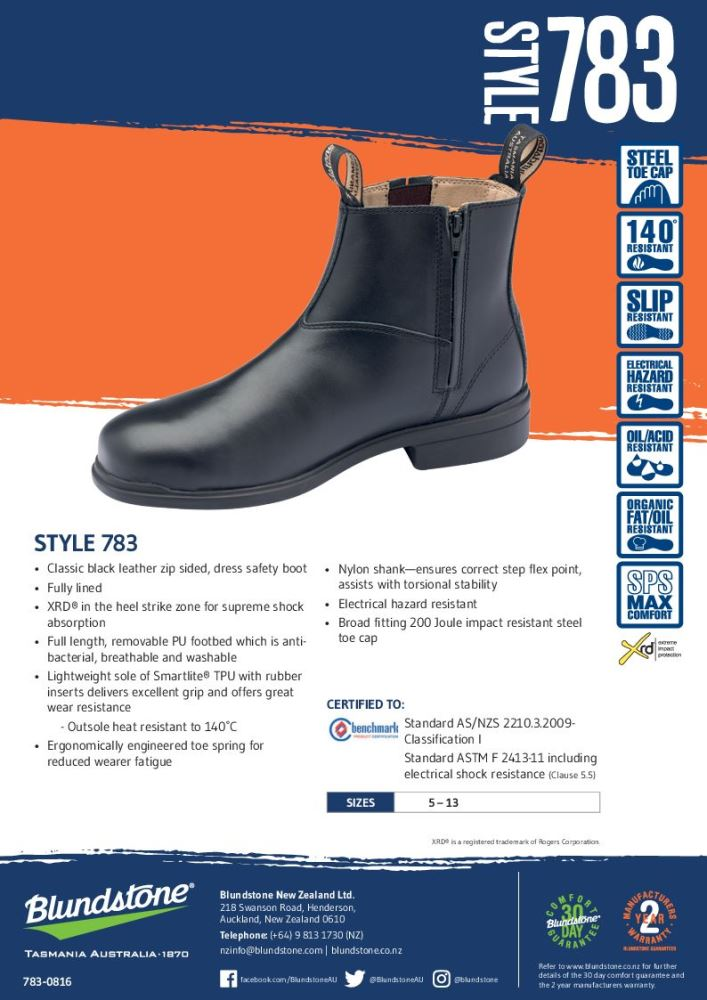 81b345be47b Blundstone 783 Executive Safety Work Boot