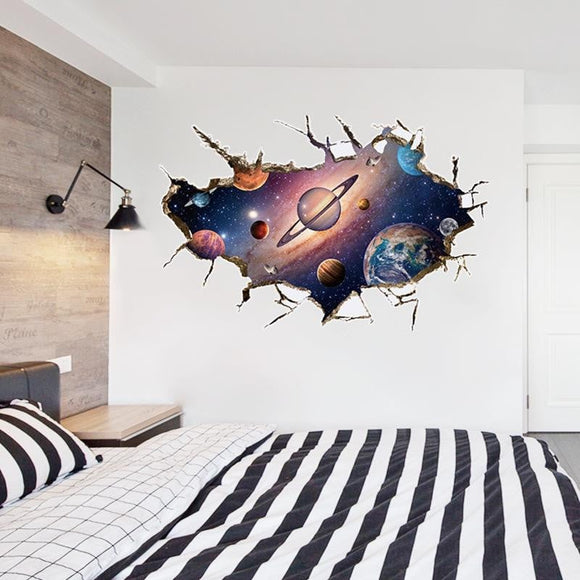 Cosmos Outer Space Wall Sticker Kindergarten Bathroom Children Room -Space toys, Space art, levitating lamps ,Space inspired tech products, smart electronics