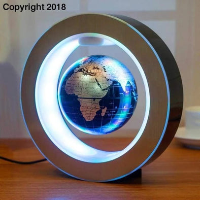 LED Colorful Rotating World Map