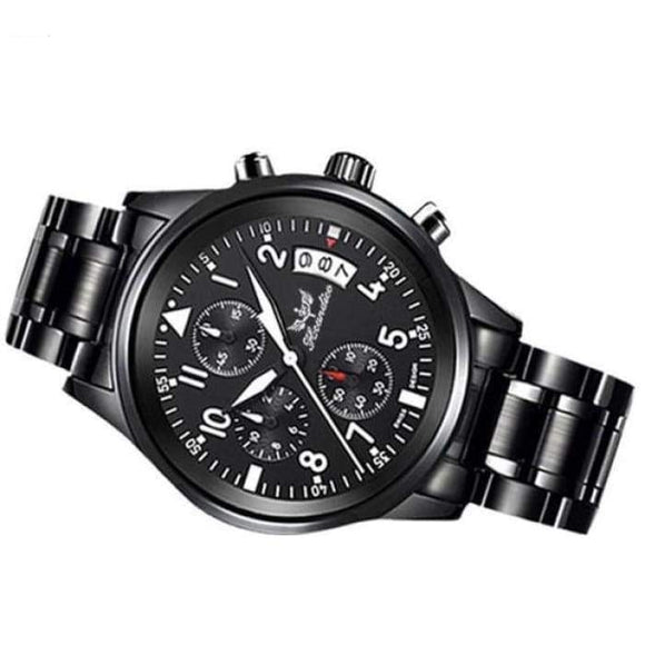 1PC Men's Fashion Watch Stainless Steel Band Analog Quartz Wrist Watch - future-rockets