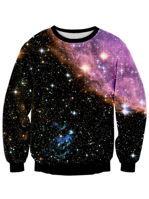 Starry Sky Digital Print Galaxy Sweatshirt -Space toys, Space art, levitating lamps ,Space inspired tech products, smart electronics