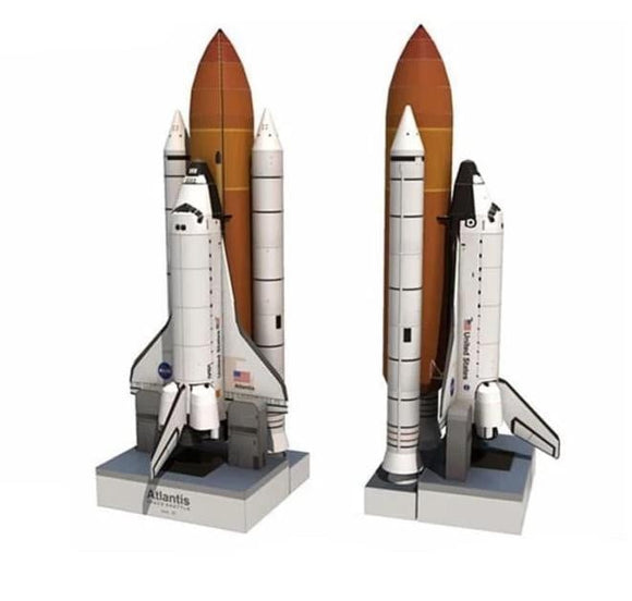 34cm 1:150 Space Shuttle Atlantis Paper Model Puzzle Manual Spaceflight Rocket DIY Paper Art Toy -Space toys, Space art, levitating lamps ,Space inspired tech products, smart electronics