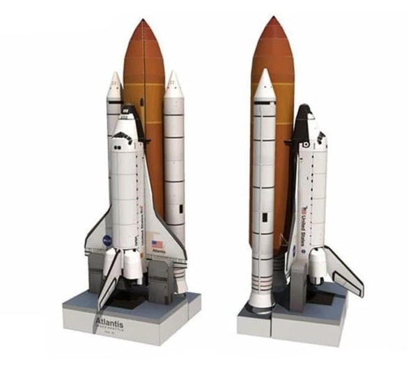 34cm 1:150 Space Shuttle Atlantis Paper Model Puzzle Manual Spaceflight Rocket DIY Paper Art Toy - future-rockets