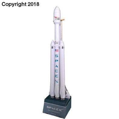 42cm 1:160 SpaceX Falcon Heavy-duty Rocket 3D Paper Model Puzzle Student Hand Class DIY Space Papermodel Origami Toy - future-rockets