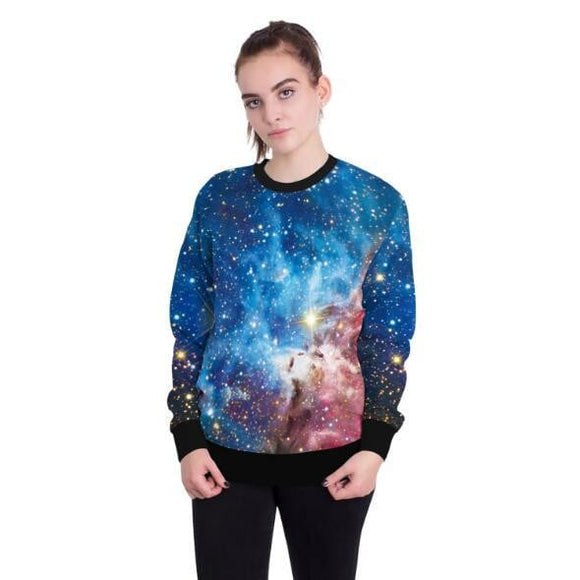 Tracksuits Sweatshirt 3d Galaxy Hoodies Women Sportswear -Space toys, Space art, levitating lamps ,Space inspired tech products, smart electronics
