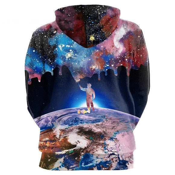 NADANBAO New Hiphop Hoodies Fashion Galaxy Space 3D Printed Moon Sweatshirts Women Hooded Bts -Space toys, Space art, levitating lamps ,Space inspired tech products, smart electronics
