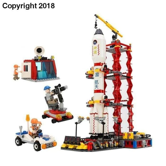 8816 GUDI 753pcs Space Center Rocket Station Building Blocks Bricks Educational Toys Children Gift Christmas Legoings - future-rockets