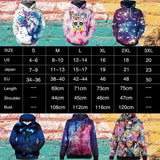 NADANBAO New Hiphop Hoodies Fashion Galaxy Space 3D Printed Moon Sweatshirts Women Hooded Bts - future-rockets