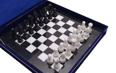 Handmade Marble Chess Black and White