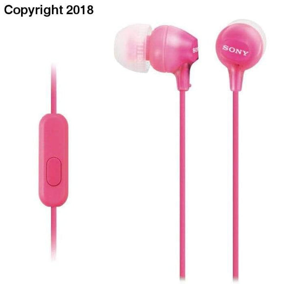 Headphones with Microphone Sony MDREX15APP Pink - future-rockets