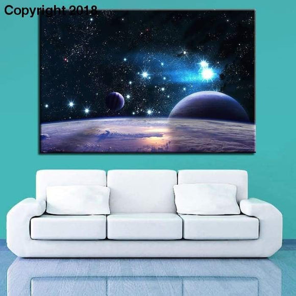 Modular Pictures Wall Art HD Prints Planet 1 Pieces Space Canvas Painting Landscape Home Decoration Living Room Artwork Poster - future-rockets