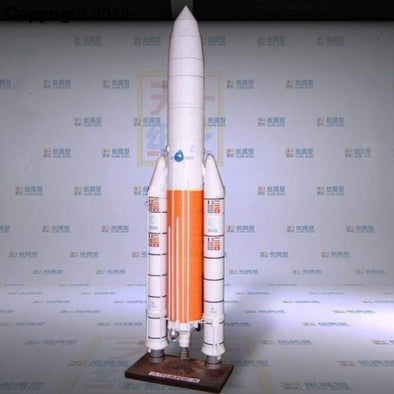 Paper Model Ariane 5 Rocket Science and Technology Space puzzle DIY handmade paper art toy - future-rockets
