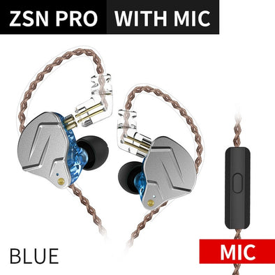 KZ ZSN PRO 1BA+1DD Hybrid In Ear Earphone Monitor Running Sport Earphone HIFI Headset Earbud KZ ZST ZS10 ES4 AS10 AS06 KZ ZSN