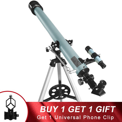Professional 675X HD Stargazing Astronomical Telescope Deep Sky Night Vision 60mm Refractor Moon Watching for Kids Adults Gifts