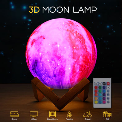Romantic Colorful Moon Lamp