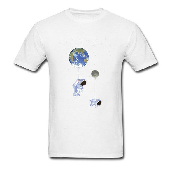 Walk Dog T-shirt Men Space X T Shirts Spaceman Spacepug Tops Moon Earth Print Tee Shirt Brand New Novelty Astronaut Clothes CCCP