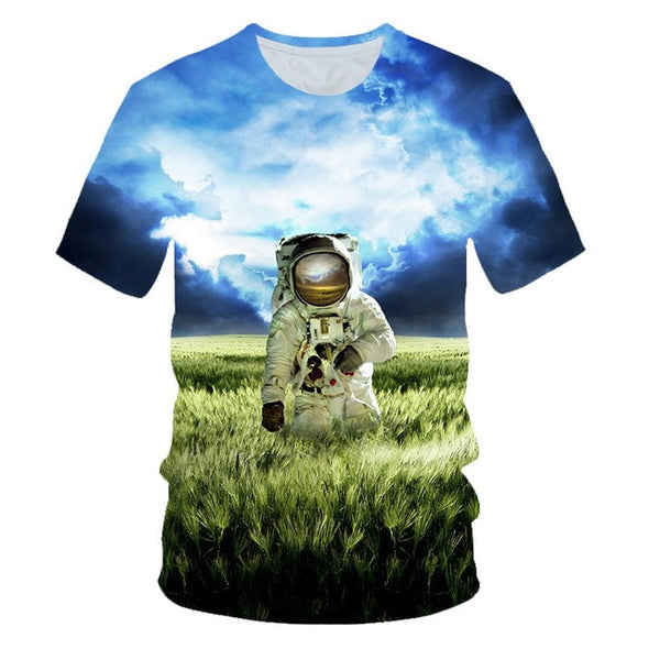 Astronauts Moon Space Walk 3D Printed T Shirt
