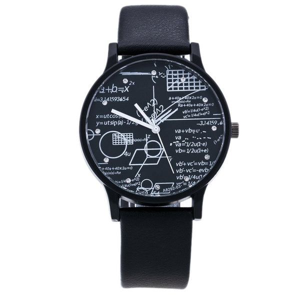 New Mathematical Men Watch Geometry Elements Student Watch Trends Couples Watches Fashion Personality Design Couples Watches