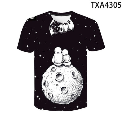 Cool Funny Unisex Universe Galaxy Astronaut 3D T shirt