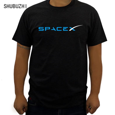 SpaceX Space X Logo T Shirt Men's Popular Custom Short Sleeve Boyfriend's Plus Size tshirt new fashion clothes free shipping
