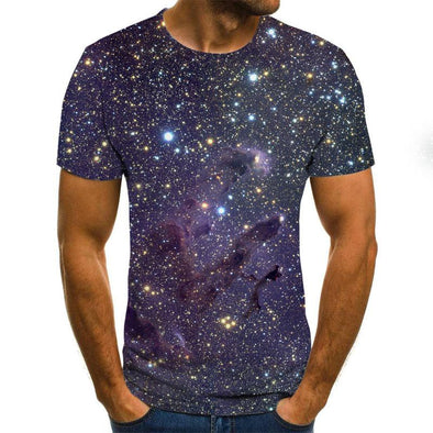 Galaxy space pattern printing 3D T-shirt