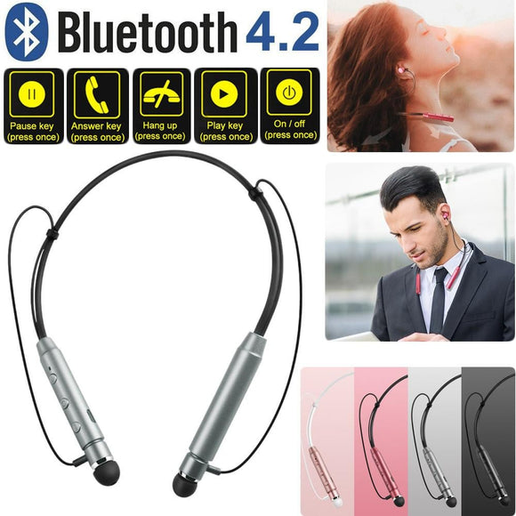 Magnetic Wireless Bluetooth Headphones Sports Earphone Neckband Headset with Mic -Space toys, Space art, levitating lamps ,Space inspired tech products, smart electronics
