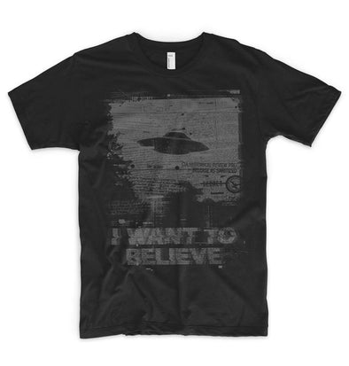I Want To Believe printed T Shirt