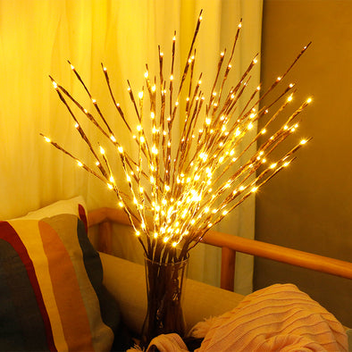 Battery Powered LED Willow Light
