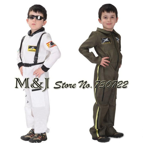 Free shipping!!Halloween children policeman clothing naval uniform/air force handsome white space model play a costume - future-rockets