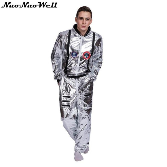 Space Suit For Men, Adult Plus Size, Astronaut Costume Silver Pilot Costume, One Piece Jumpsuit -Space toys, Space art, levitating lamps ,Space inspired tech products, smart electronics
