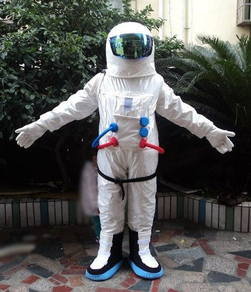 High Quality Space suit mascot costume, Astronaut mascot costume with Backpack with LOGO glove,shoes ,Free Shipping -Space toys, Space art, levitating lamps ,Space inspired tech products, smart electronics