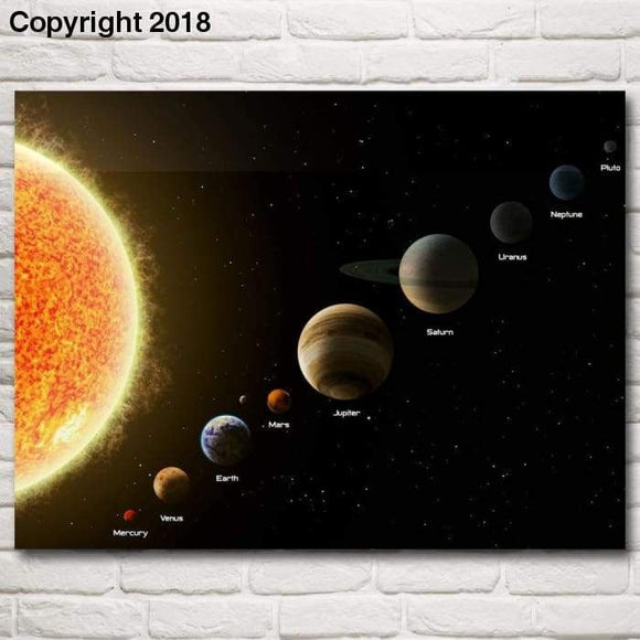 Space Solar System Sun Mercury Venus Earth Mars Jupiter Art Silk Poster Home Decor Pictures 12x16 30x40 Inches Free Shipping - future-rockets