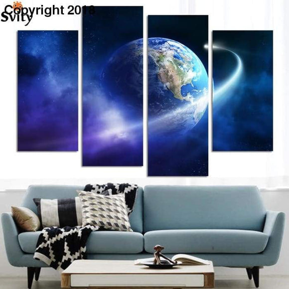 The Earth Map From the Space Canvas Painting Modern HD Large Painting On Canvas Wall Art Gift For Living Room - future-rockets