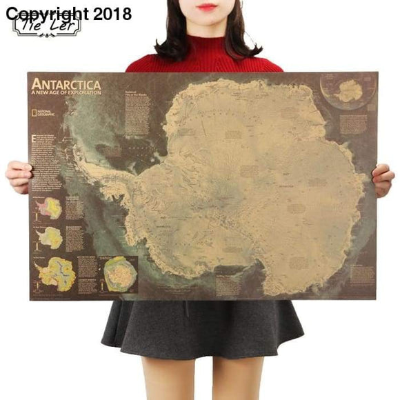 Antarctica Satellite Map - High Resolution Poster Map Of Antarctica